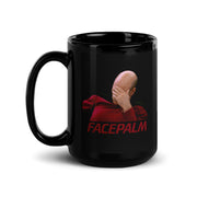 Star Trek: The Next Generation Facepalm 15 oz Black Mug