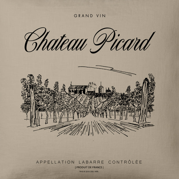 Star Trek: Picard Chateau Picard Vineyard Logo Throw Pillow