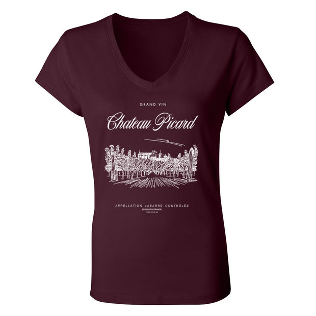 Star Trek: Picard Chateau Picard Vineyard Logo Women's V-Neck T-Shirt