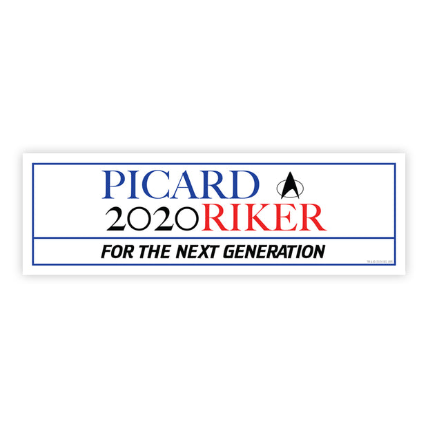 Star Trek: The Next Generation Picard Riker 2020 Bumper Sticker