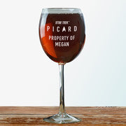 Star Trek: Picard Property Of Personalized Wine Glass