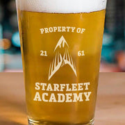 Star Trek Starfleet Academy Flying Phoenix Delta Pint Glass