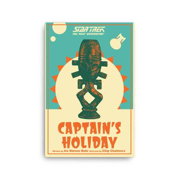 Star Trek: The Next Generation Juan Ortiz Captain's Holiday Premium Gallery Wrapped Canvas