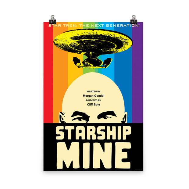 Star Trek: The Next Generation Juan Ortiz Starship Mine Premium Satin Poster