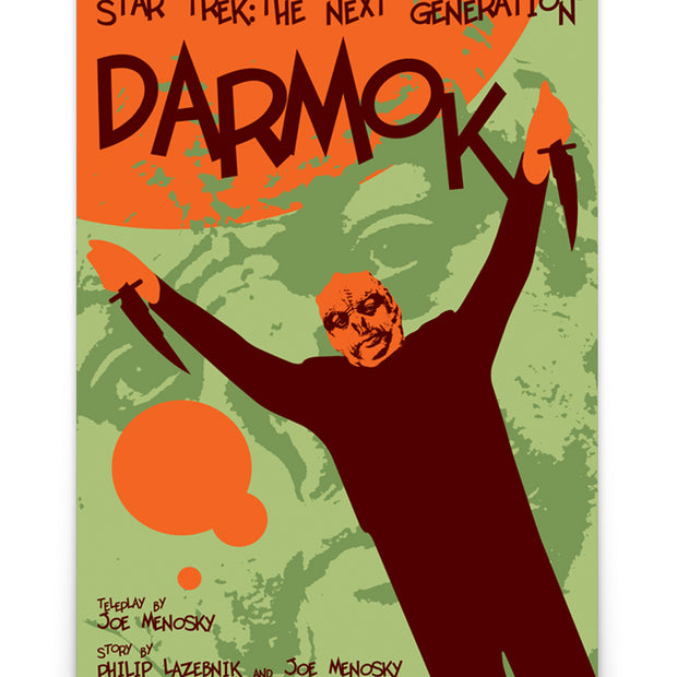 Star Trek: The Next Generation Juan Ortiz Darmok Poster Premium Satin Poster