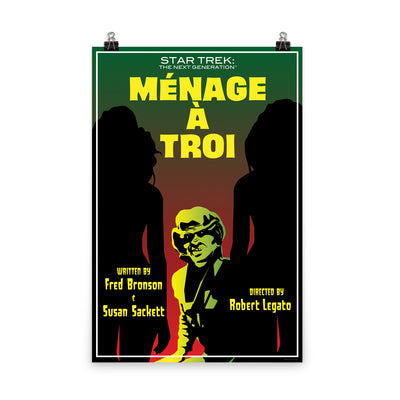 Star Trek: The Next Generation Juan Ortiz Menage a Troi Premium Satin Poster