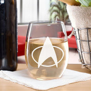 Star Trek: The Next Generation Delta Laser Engraved Stemless Wine Glass