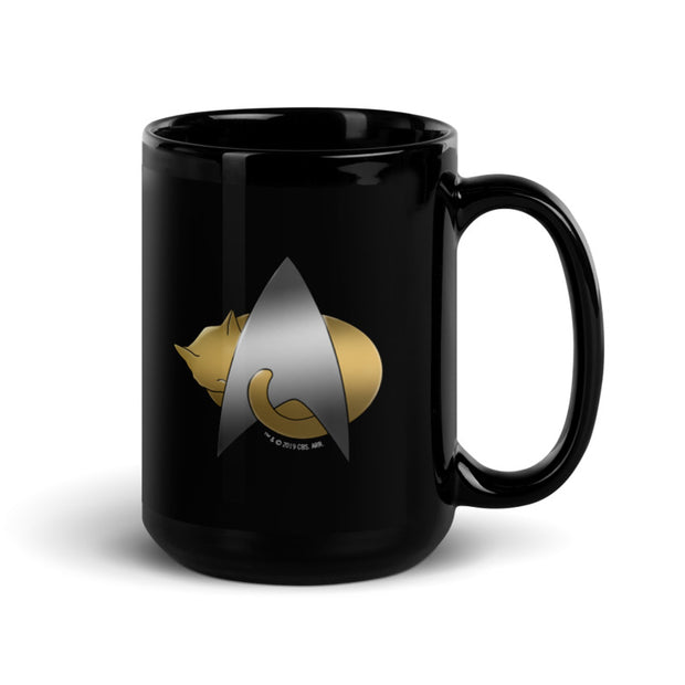 Star Trek: The Next Generation Kitty Cat Logo Black Mug