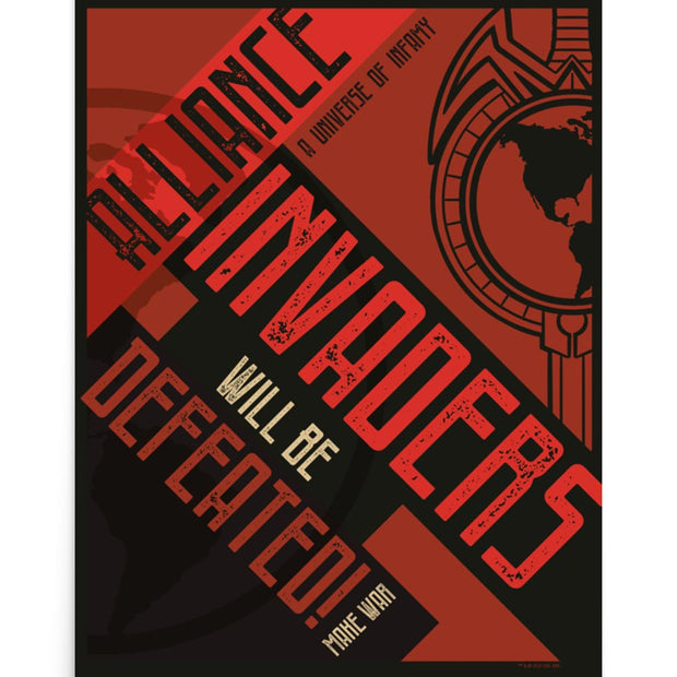 Star Trek: The Next Generation Mirror Universe Invaders Will Be Defeated Premium Poster