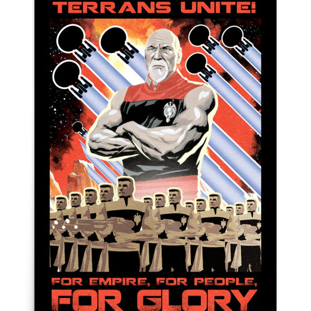 Star Trek: The Next Generation Mirror Universe Terrans Unite Premium Poster