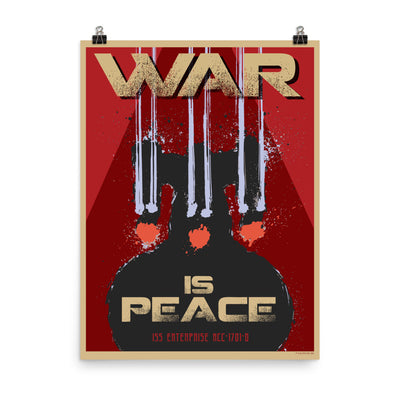 Star Trek: The Next Generation Mirror Universe War is Peace Premium Poster