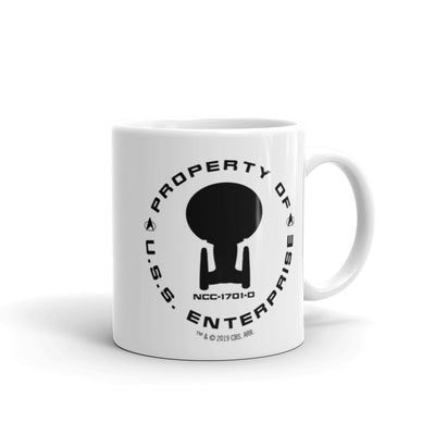 Star Trek: The Next Generation Property Of U.S.S. Enterprise White Mug