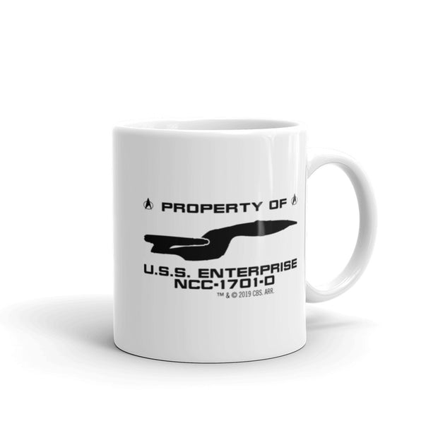 Star Trek: The Next Generation U.S.S. Enterprise Profile White Mug
