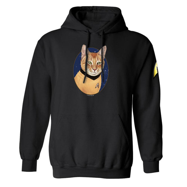 Star Trek: The Original Series Cat Captain Kirk Fleece Hooded Sweatshirt