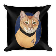 "Star Trek: The Original Series Cat Captain Kirk Pillow - 16"" x 16"""