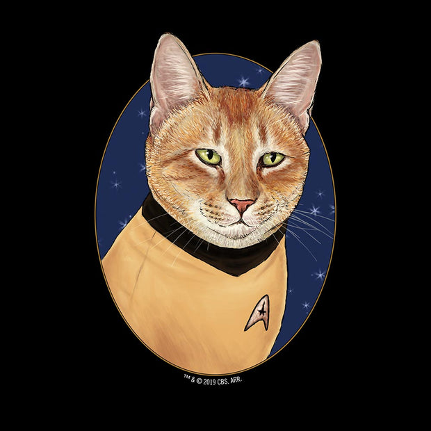 Star Trek: The Original Series Cat Captain Kirk Adult Short Sleeve T-Shirt