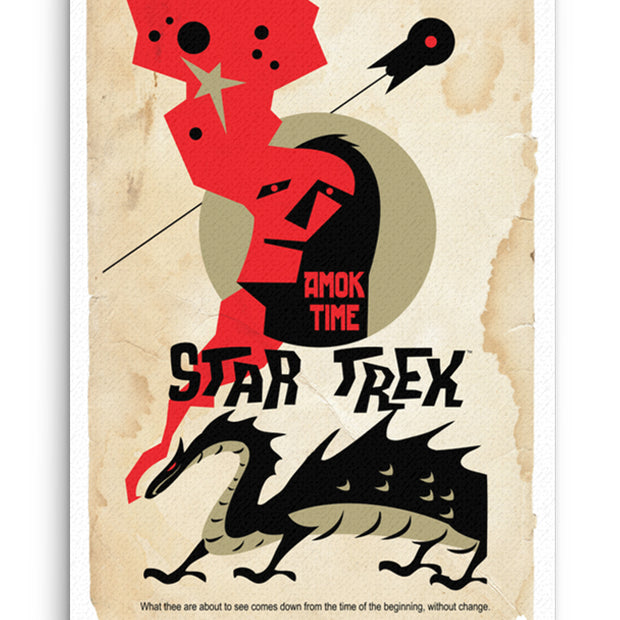 Star Trek: The Original Series Juan Ortiz Amok Time Premium Gallery Wrapped Canvas