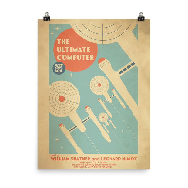 Star Trek: The Original Series Juan Ortiz The Ultimate Computer Satin Poster
