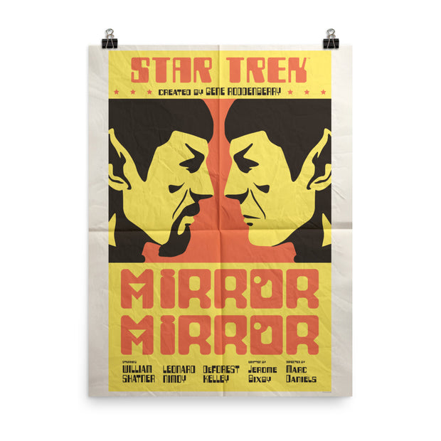 Star Trek: The Original Series Juan Ortiz Mirror Mirror Satin Poster