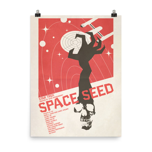 Star Trek: The Original Series Juan Ortiz Space Seed Poster