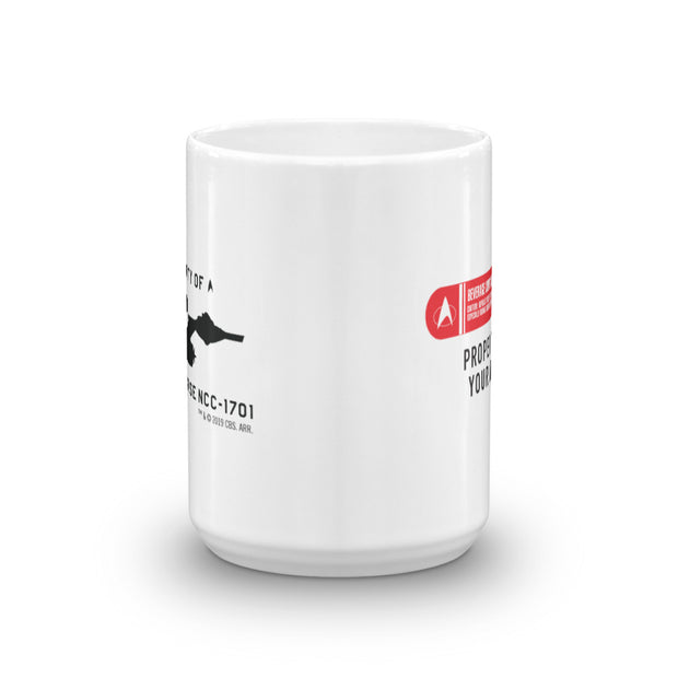 Star Trek: The Original Series Beverage Containment System Personalized White Mug