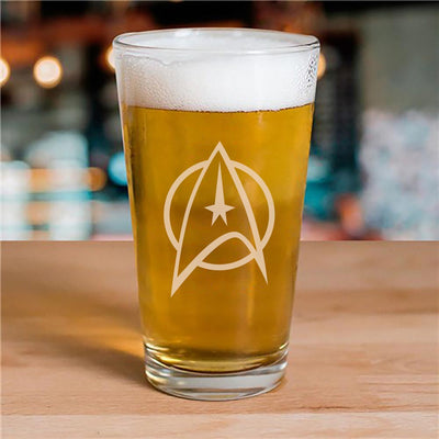 Star Trek: The Original Series Delta Laser Engraved Pint Glass