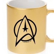 Star Trek: The Original Series Delta Personalized 11 oz Gold Metallic Mug
