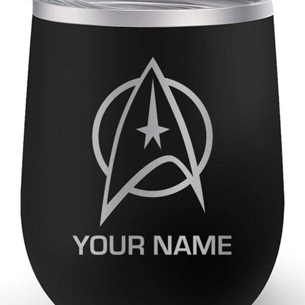 Star Trek: The Original Series Delta Personalized 12 oz Stainless Steel Wine Tumbler