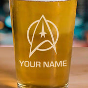 Star Trek: The Original Series Delta Personalized Laser Engraved Pint Glass