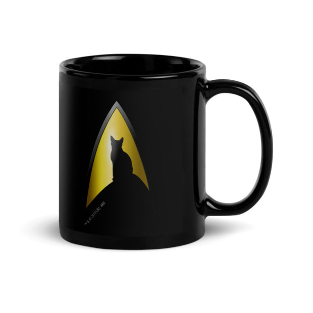 Star Trek: The Original Series Kitty Cat Logo Black Mug