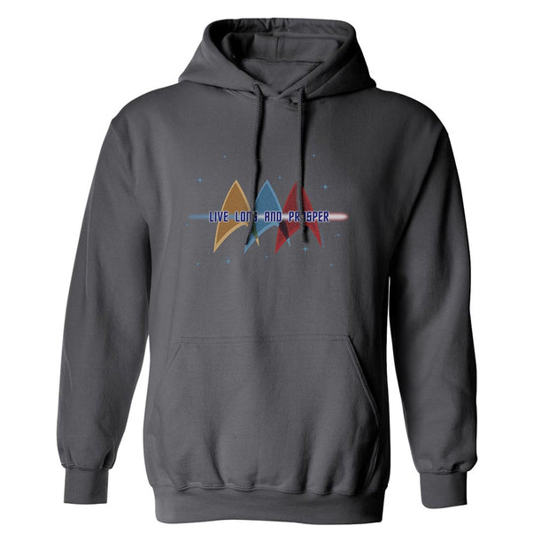 Star Trek: The Original Series Live Long and Prosper Deltas Fleece Hooded Sweatshirt