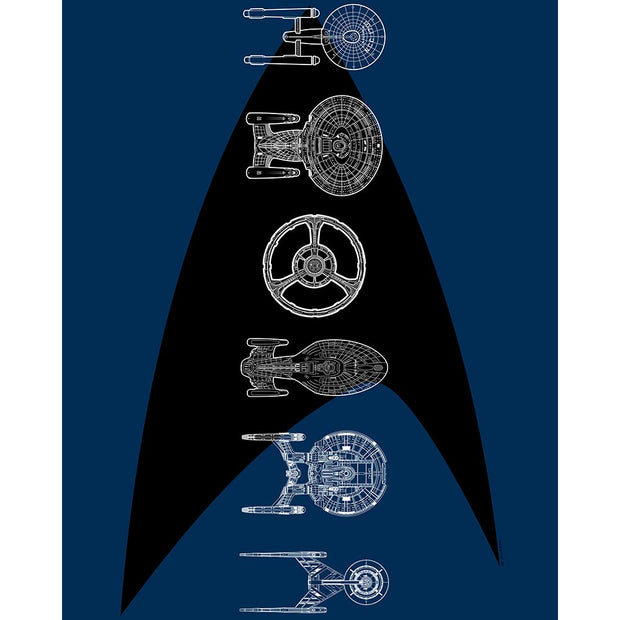 Star Trek: The Original Series Ships of the Line Delta Sherpa Blanket