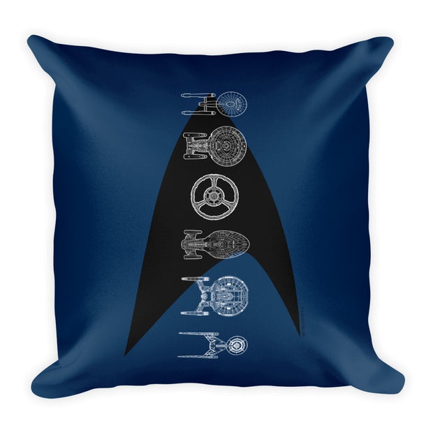 "Star Trek Ships of the Line Delta Pillow - 16"" x 16"""