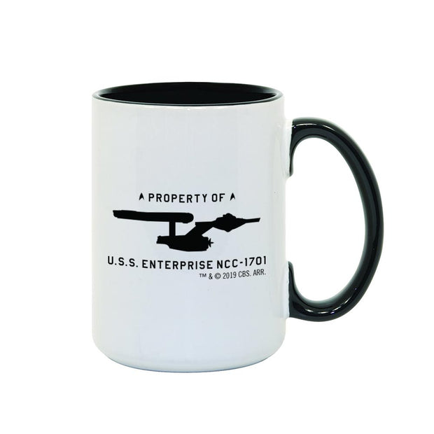 Star Trek: The Original Series U.S.S. Enterprise Property of Profile Two-Tone Mug