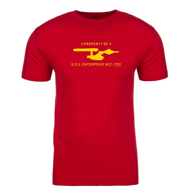 Star Trek: The Original Series U.S.S. Enterprise Property of Profile Adult Short Sleeve T-Shirt