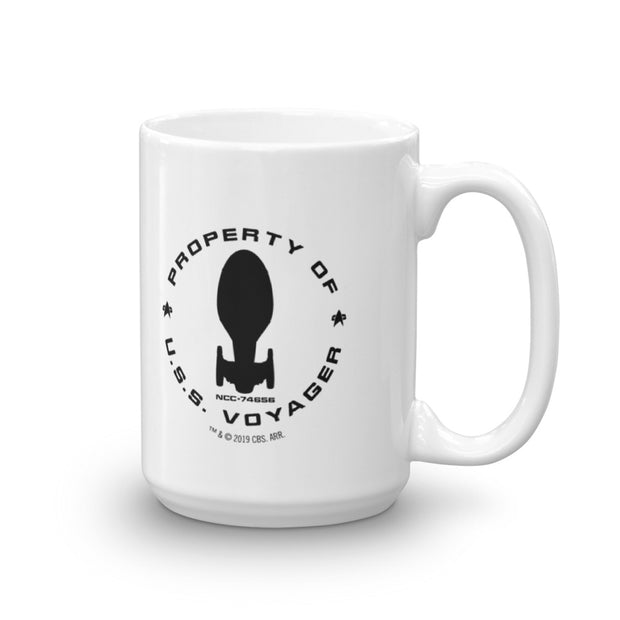 Star Trek: Voyager Property Of U.S.S. Voyager White Mug