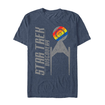 Star Trek: Discovery Rainbow Striped Ship Graphic T-Shirt