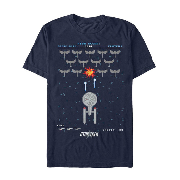 Star Trek: The Original Series Pixel Space Battle Graphic T-Shirt