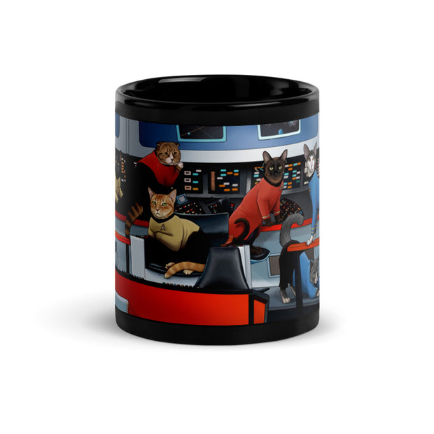 Star Trek: The Original Series Crew Cats 11 oz Black Mug