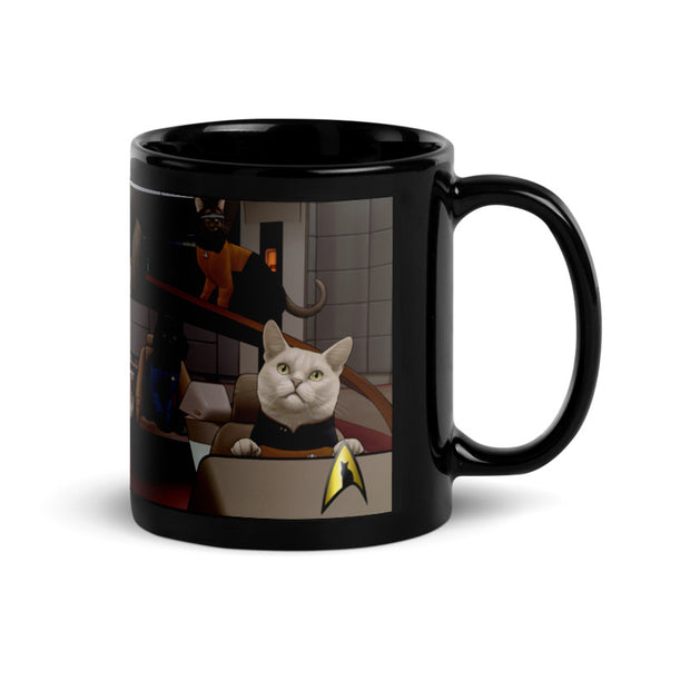 Star Trek: The Next Generation Crew Cats 11 oz Black Mug