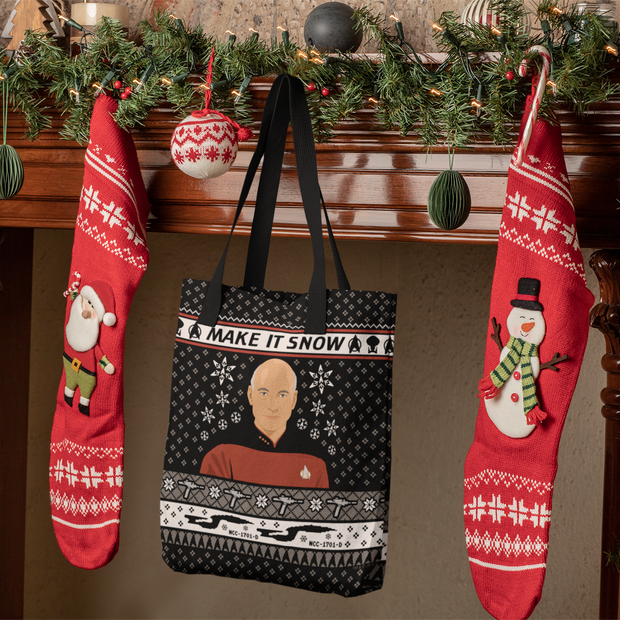 Star Trek: The Next Generation Make It Snow Tote Bag