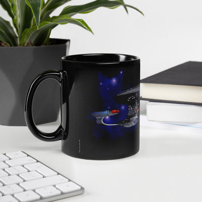 Star Trek: The Next Generation Space Cat 11 oz Black Mug