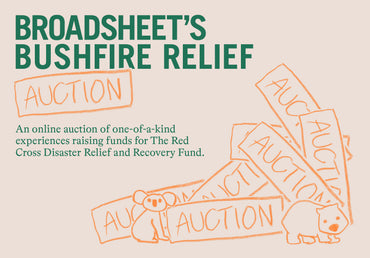Broadsheet Bushfire Relief Picnic and Auction