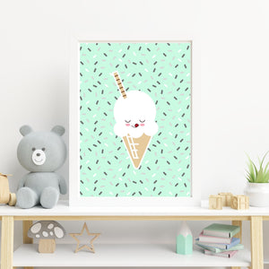 Ice Cream Popsicle Prints - choose your color - Wall art print set or individual prints