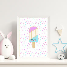 Load image into Gallery viewer, Ice Cream Popsicle Prints - choose your color - Wall art print set or individual prints