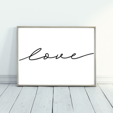 Load image into Gallery viewer, Love Script wall decor print - romantic wall art