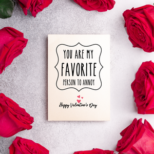 You're my Favorite - Valentine's Day Card