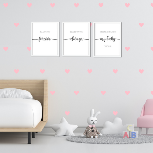 I'll Love you Forever prints Set of 3 - nursery bedroom wall art