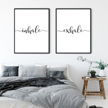 Load image into Gallery viewer, Inhale Exhale Print Set - Wall art decor
