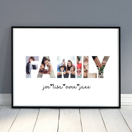 Photo Collage Print - Personalized Photo gift print